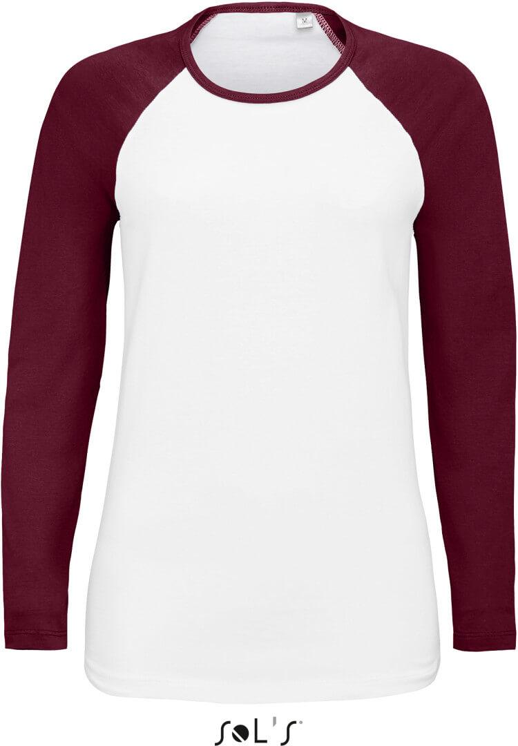 Dámske raglánové tričko s dlhým rukávom