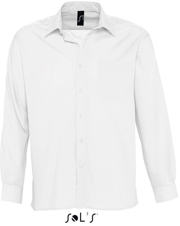 Baltimore Pánska popelínová košeľa s dlhým rukávom