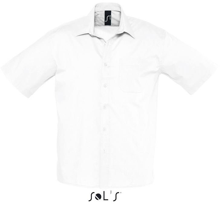 Bristol Pánska popelínová košeľa s krátkym rukávom