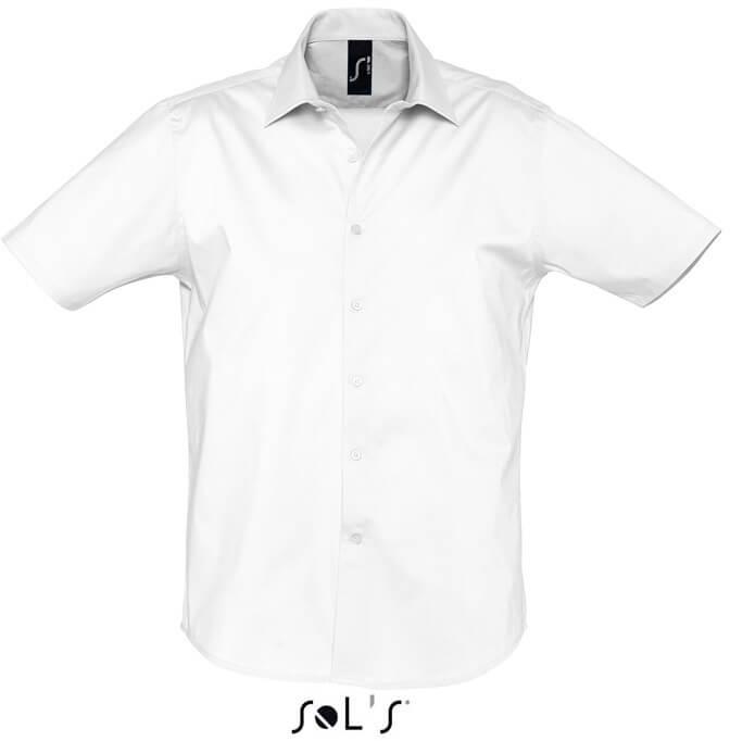 Broadway Pánska elastická košeľa s krátkym rukávom