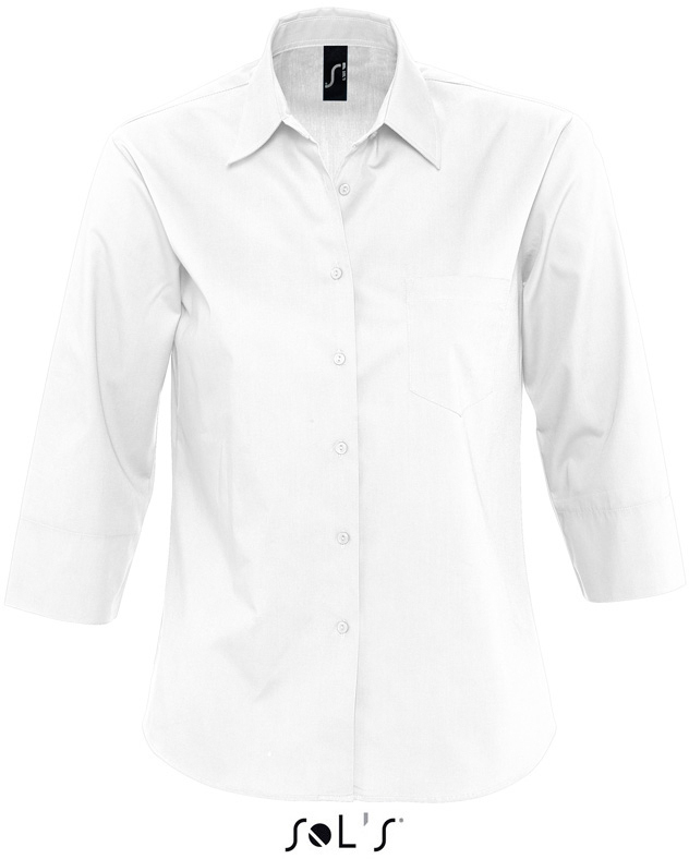 Eternity Dámska popelínová košeľa s 3/4 rukávom