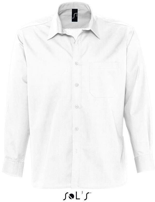 Bradford Pánska popelínová košeľa s dlhým rukávom