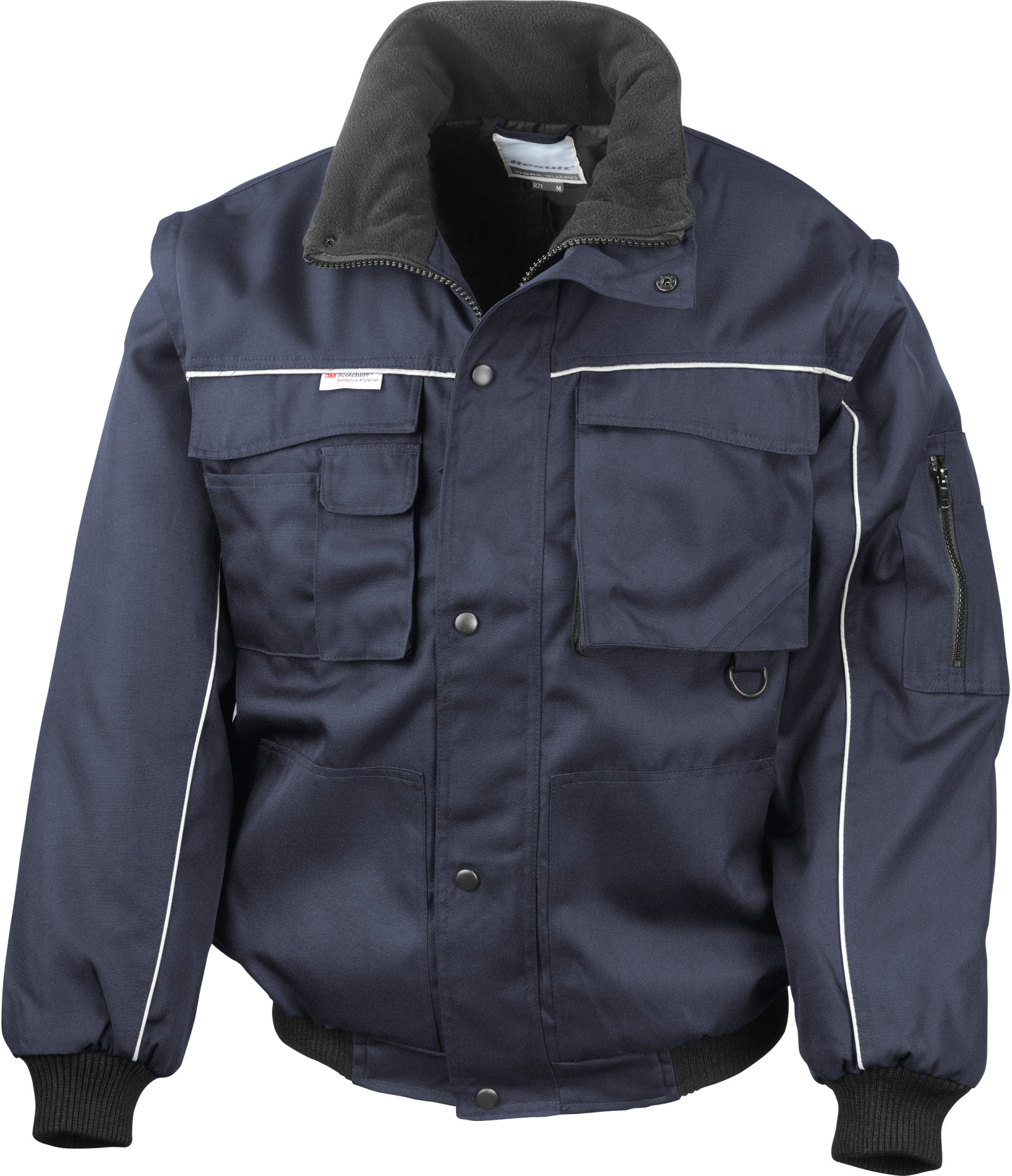 Pracovná bunda s odnímateľnými rukávmi