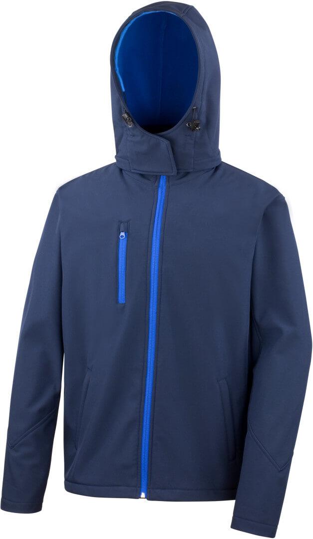3 vrstvová pánska softshellová bunda s kapucňou