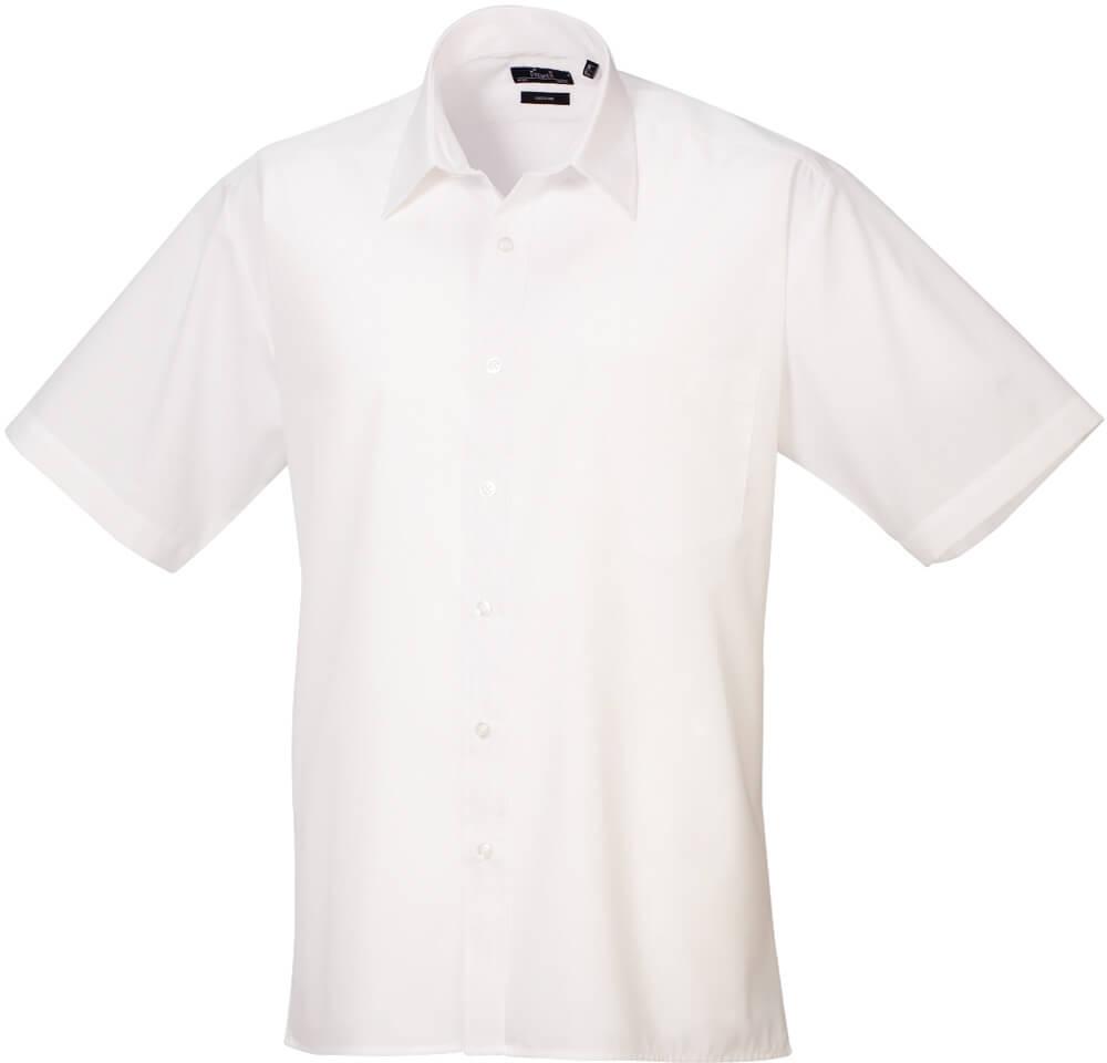 Popelínová košeľa s krátkym rukávom