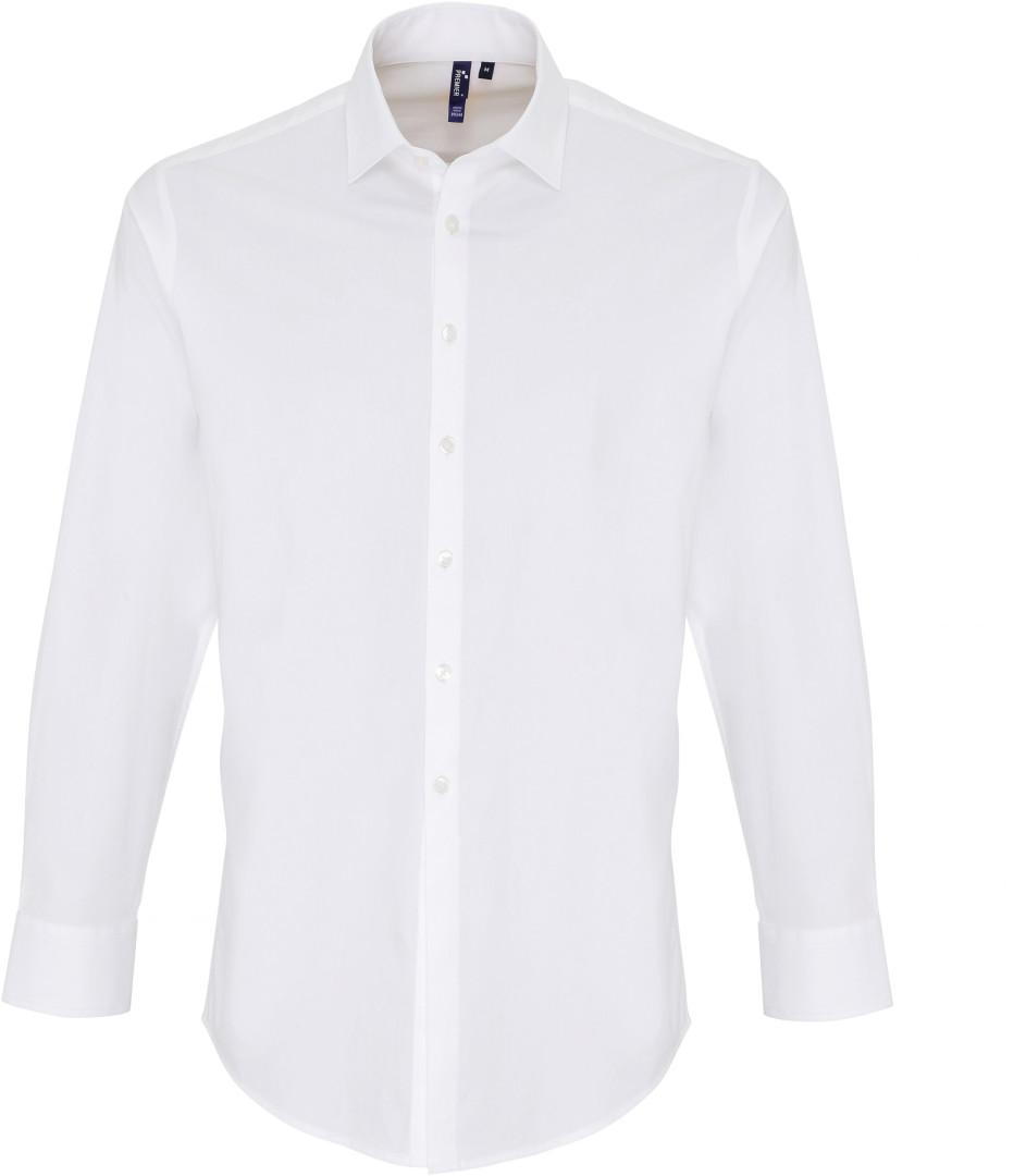 Popelínová košeľa s dlhým rukávom