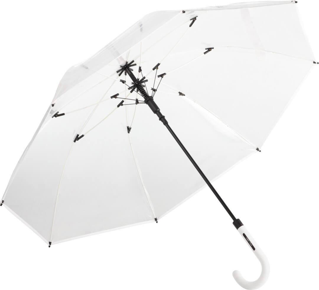 Transparentný automatický dáždnik