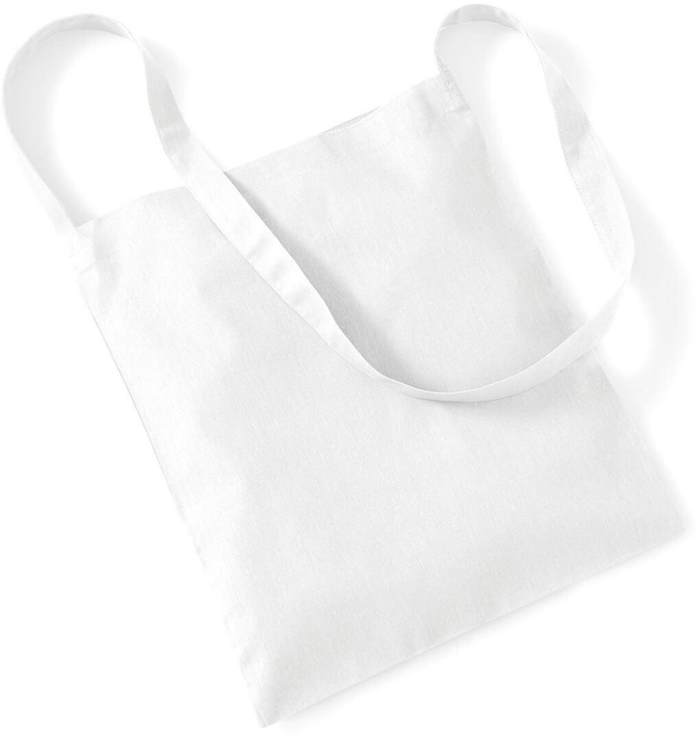 W107 Bavlnená taška s dlhým uchom