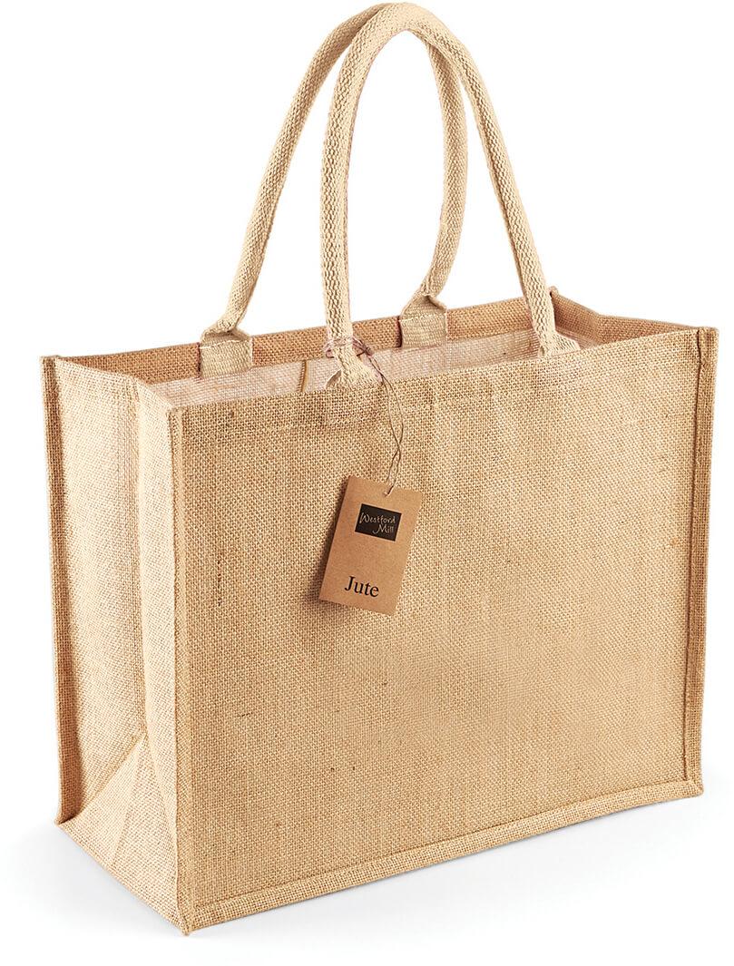 W407 Jutová nákupná taška