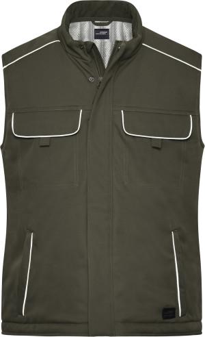 Pracovná softshellová polstrovaná vesta Solid