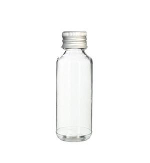 Priesvitná fľaša s hlinikovym uzaverom 30 ml