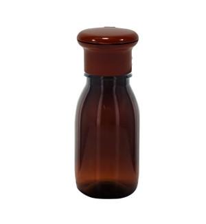 Hnedá fľaša s klipom 50ml