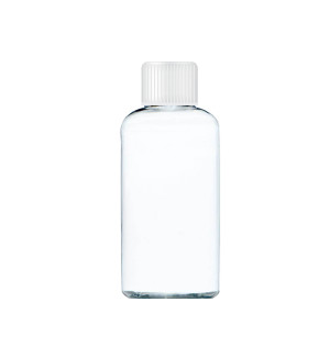 Transparentná fľaša s bielym uzáverom 80 ml