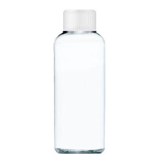 Transparentná fľaša s bielym uzáverom 90 ml