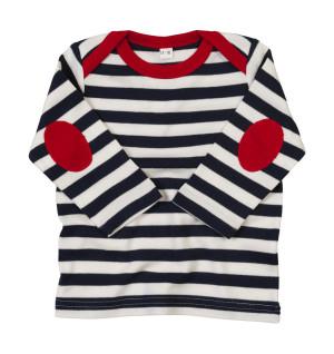 Detské pruhované tričko s dlhými rukávmi