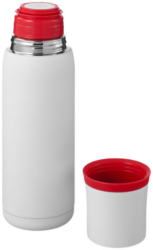 Flow vacuum insulating flask