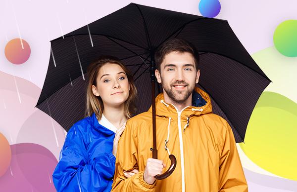 Dáždniky a pršiplášte sú praktické reklamné predmety